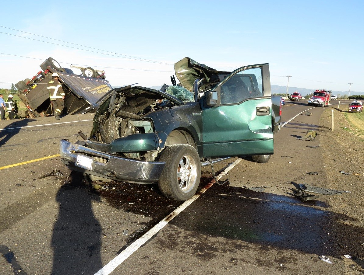 Car Accident Highway  Junction City Oregon