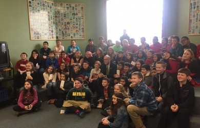 walden visits with students
