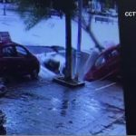 Cars swallowed by China sinkhole