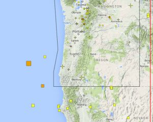 0613 coast earthquakes