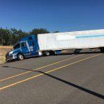 Semi-truck causes I-5 blockage