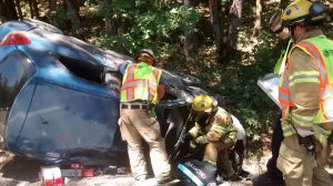 Afternoon crash in Josephine County. Photo courtesy of Rural Metro Fire.