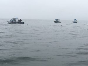 Curry County, Douglas County and Wasco County Sheriff boats search for missing plane. (Image courtesy of the Josephine County Sheriff's Office.)