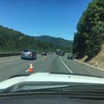 SUV pulling trailer rolls, slows I5 traffic near Wolf Creek