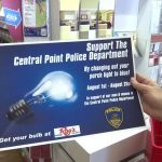Businesses placing special orders for blue bulbs