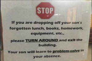 0818 Catholic school sign