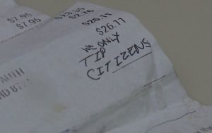 0822 we only tip citizens receipt