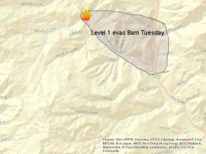 0823 Cleveland Ridge level 1 evacuations