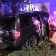 Vehicle crashes into Medford apartment