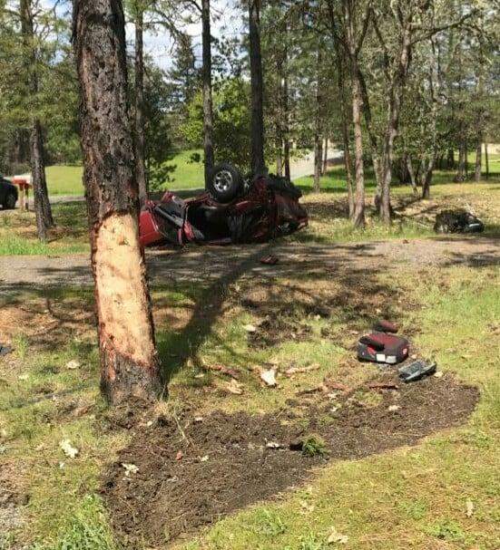 (PHOTOS) Rollover Crash Near Merlin