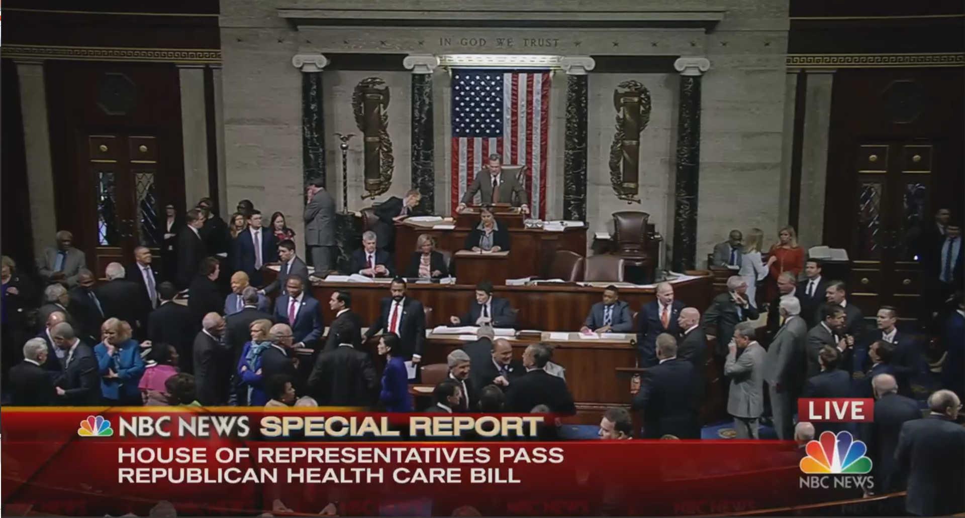 House Narrowly Passes Republican Health Care Bill