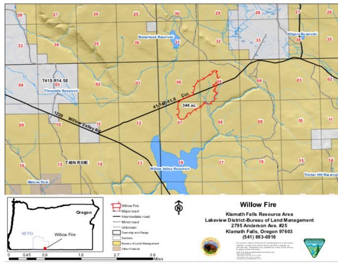 Fire Map Of Oregon 2017.Wildfire Burning Between Klamath Falls Lakeview Kobi Tv Nbc5