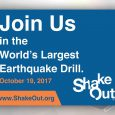 Prepare for earthquakes during ShakeOut Day