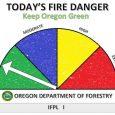 "Fire danger ""low"" on ODF-protected lands"