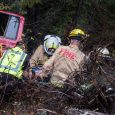 Car over a cliff, waits eight hours for rescue