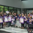 Home care workers protest late paychecks in Salem