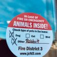 Fire District 3 encourages pet owners to prepare for emergency