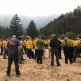 East Evans Fire in Sams Valley holds at 300 acres overnight