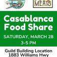 Casablanca hosting food drive this weekend