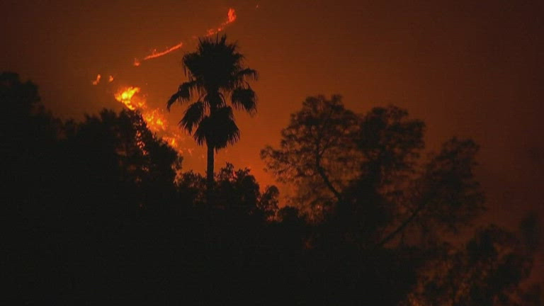 Glass Fire threatens the community of Calistoga, California
